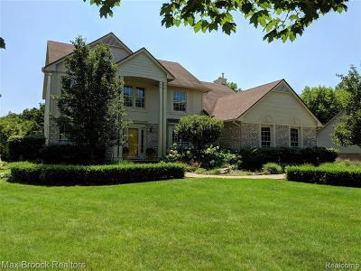 West Bloomfield Twp Single Family Home For Sale: 7381 W Water Oaks W
