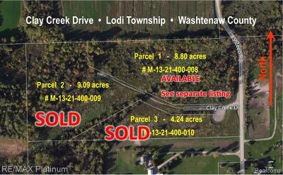 Ann Arbor Residential Lots & Land For Sale: 4 Clay Creek Drive