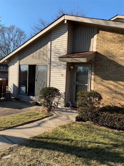 Waterford Twp Condo/Townhouse For Sale: 70 Willow Way
