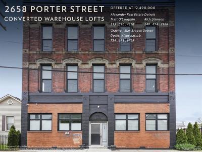 Detroit Multi Family Home For Sale: 2658 Porter Street