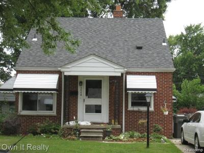Dearborn Single Family Home For Sale: 3440 Dudley Street