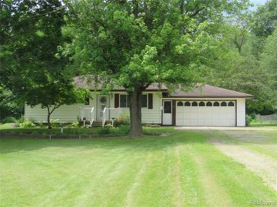 City Of The Vlg Of Clarkston, Clarkston, Independence Twp Single Family Home For Sale: 6285 Gulick Road
