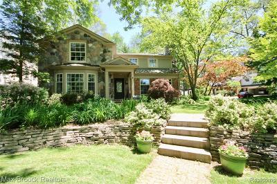 Birmingham MI Single Family Home For Sale: $849,900