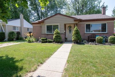 Ferndale,  Royal Oak,  Berkley,  Clawson, Huntington Woods, Pleasane Ridge, Madison Heights Single Family Home For Sale: 1007 Dreon Drive