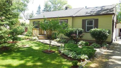 Livonia, Redford Twp, Farmington Hills, Farmington, Southfield Single Family Home For Sale: 30126 Everett Street