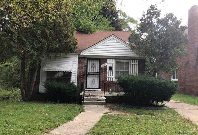 Detroit Single Family Home For Sale: 12850 Saint Marys Street