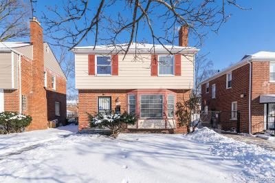 Detroit Single Family Home For Sale: 16606 Hubbell Street