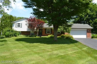 Commerce Twp Single Family Home For Sale: 3676 Sandbar Drive