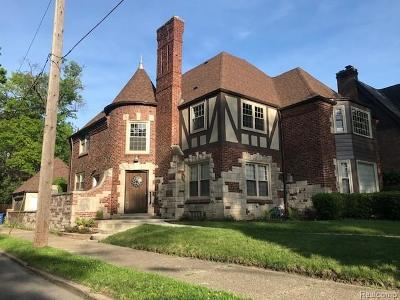 Detroit Single Family Home For Sale: 17412 Wildemere Street