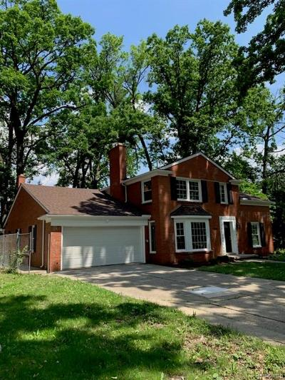 Detroit Single Family Home For Sale: 1246 Strathcona Drive