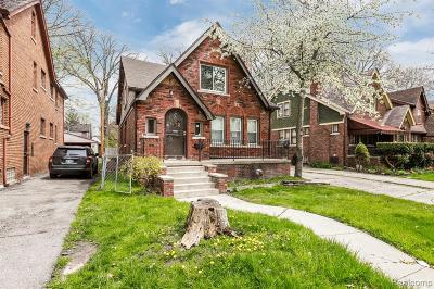 Detroit Single Family Home For Sale: 5984 Yorkshire Road