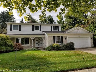Troy Single Family Home For Sale: 1950 Chancery Drive