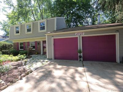 Troy Single Family Home For Sale: 2727 Renshaw Drive