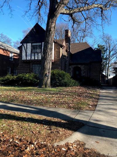 Detroit Single Family Home For Sale: 19510 Stratford Road