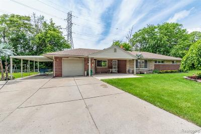 Dearborn Single Family Home For Sale: 6825 Anthony Street