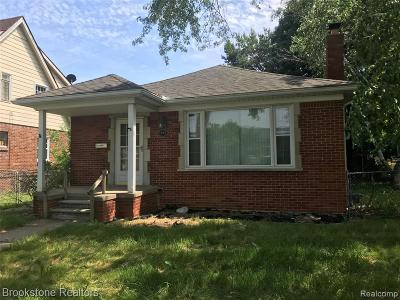 Lincoln Park Single Family Home For Sale: 1583 Riverbank Street