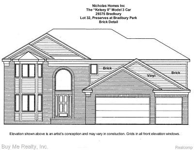 Flat Rock Single Family Home For Sale: 29375 Bradbury