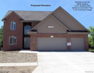 Flat Rock Single Family Home For Sale: 29699 Bradbury