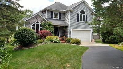 Single Family Home For Sale: 1612 Lake Metamora Drive