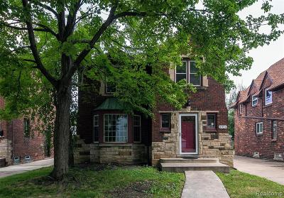Detroit Single Family Home For Sale: 3924 Yorkshire Road