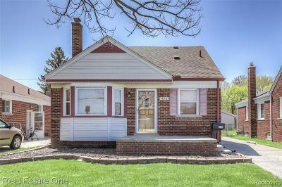 Allen Park MI Single Family Home For Sale: $113,900