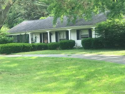 Bloomfield Twp Single Family Home For Sale: 6691 Inkster Road