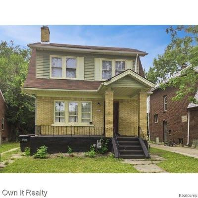 Detroit Single Family Home For Sale: 14845 Mark Twain Street