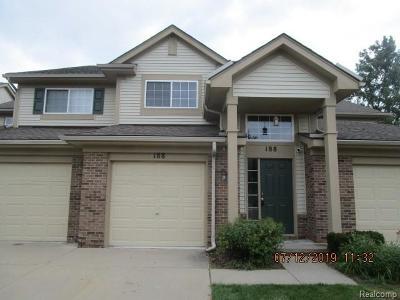Auburn Hills Condo/Townhouse For Sale: 188 S Vista