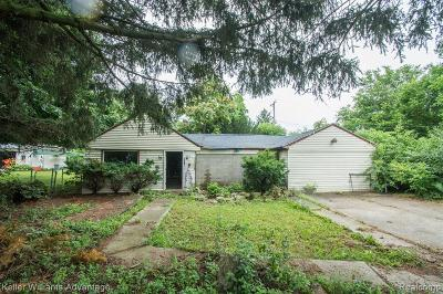 Southfield Single Family Home For Sale: 15619 W 13 Mile Road