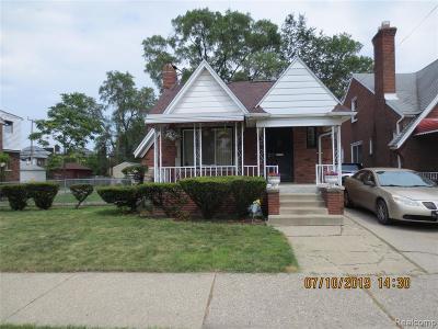 Detroit Single Family Home For Sale: 16850 Sorrento Street