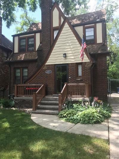 Detroit Single Family Home For Sale: 18011 Woodingham Drive