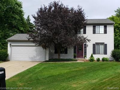 Rochester Hills Single Family Home For Sale: 1725 Danbury Lane