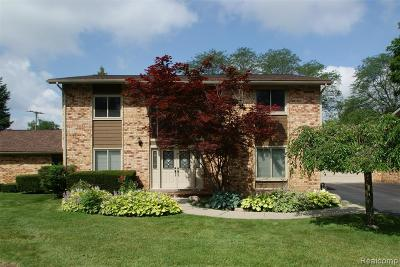 Bloomfield Hills Condo/Townhouse For Sale: 172 E Hickory Grove Road #4