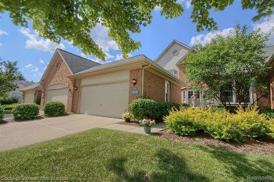 Northville Condo/Townhouse For Sale: 39748 Village Run Drive