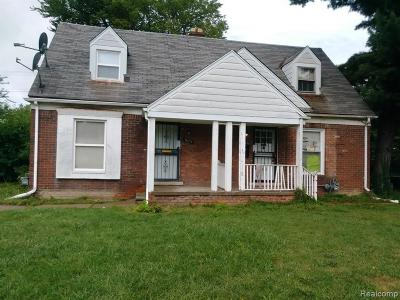 Detroit Single Family Home For Sale: 18653 Kelly Road