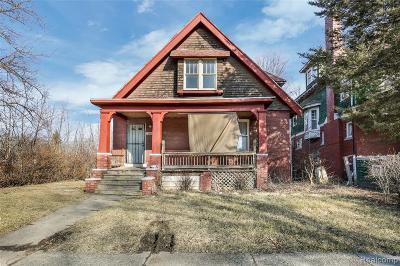 Detroit Single Family Home For Sale: 160 Webb Street