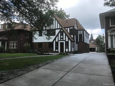 Detroit Single Family Home For Sale: 2284 W Boston Boulevard