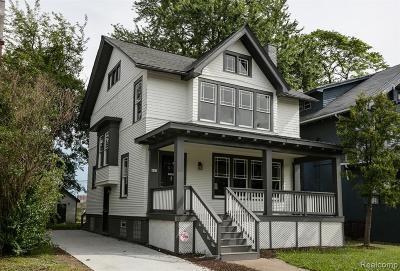 Detroit Single Family Home For Sale: 917 Edison Street
