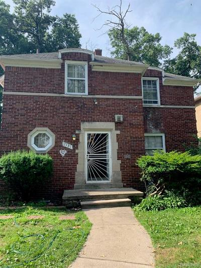 Detroit Single Family Home For Sale: 8121 Marygrove Drive