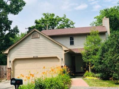 West Bloomfield Twp Single Family Home For Sale: 4030 Echo Drive