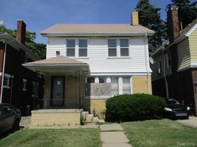 Detroit Single Family Home For Sale: 9350 Wildemere Street