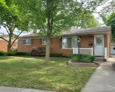Southgate Single Family Home For Sale: 15353 Nancy Street