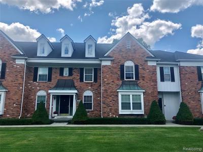 Rochester Hills Condo/Townhouse For Sale: 1675 Huntington Park #E