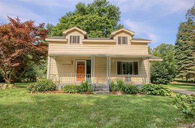 Northville Single Family Home For Sale: 43333 Reservoir Street