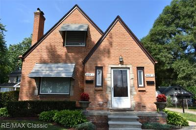 Royal Oak Single Family Home For Sale: 3409 Devon Road