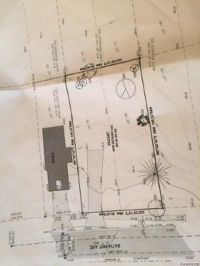 Rochester, Rochester Hills Residential Lots & Land For Sale: 3415 Bathurst Street