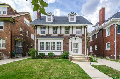 Detroit Single Family Home For Sale: 2490 Longfellow Street