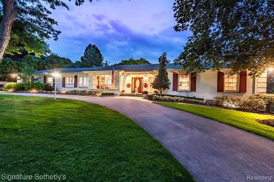 Bloomfield Hills Single Family Home For Sale: 172 Chesterfield Road