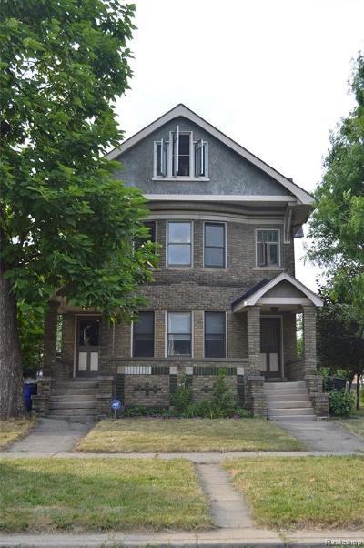 Detroit Condo/Townhouse For Sale: 531 E Kirby Street