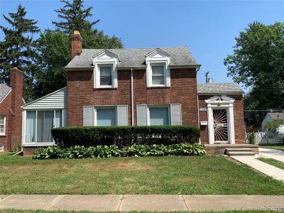Detroit Single Family Home For Sale: 14586 Piedmont Street